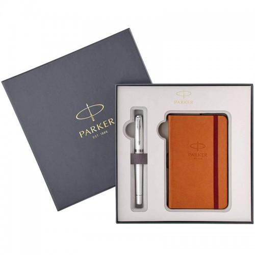 Набор с блокнотом и перьевой ручкой Parker (Паркер) Urban Premium Pearl Metal CT M в Ростове-на-Дону