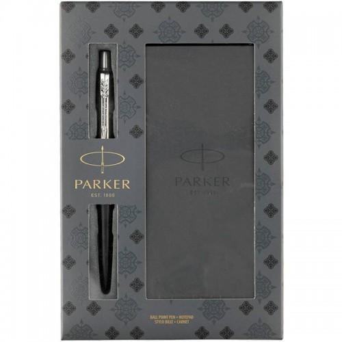 Подарочный набор из шариковой ручки Parker (Паркер) Jotter Core Bond Street Black CT и блокнота в Ростове-на-Дону