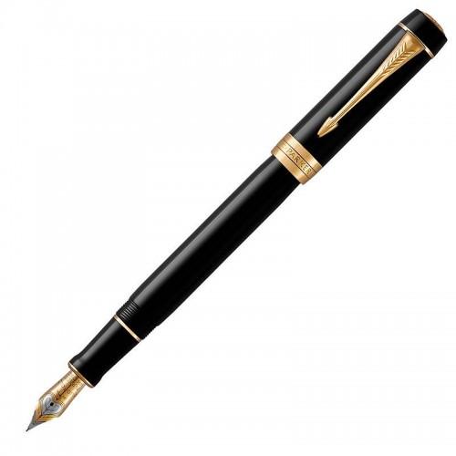 Перьевая ручка Parker (Паркер) Duofold Classic Centennial Black GT F в Ростове-на-Дону