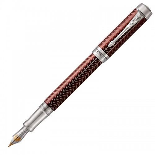 Перьевая ручка Parker (Паркер) Duofold Prestige Centennial Burgundy Chevron CT M в Ростове-на-Дону