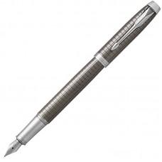 Перьевая ручка Parker (Паркер) IM Premium Dark Espresso Chiselled CT F