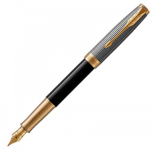 Перьевая ручка Parker (Паркер) Sonnet Premium Black Silver GT F в Ростове-на-Дону