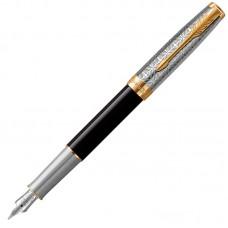Перьевая ручка Parker (Паркер) Sonnet Premium Metal Black GT F