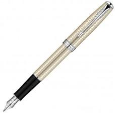 Перьевая ручка Parker (Паркер) Sonnet Cisele Decal Silver CT F 18К