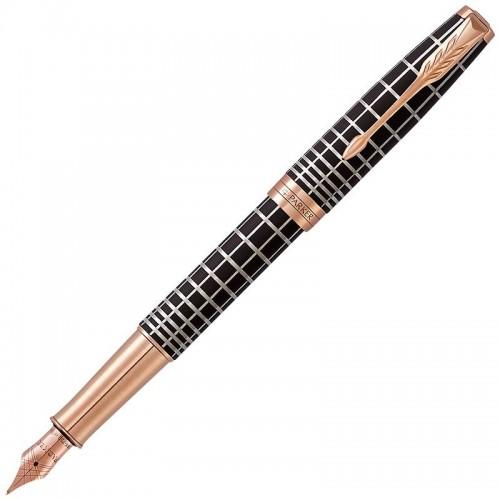 Перьевая ручка Parker (Паркер) Sonnet Premium Brown Rubber PGT F 18k в Ростове-на-Дону