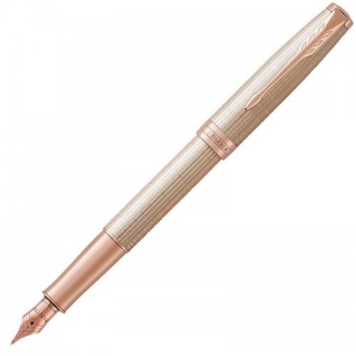 Перьевая ручка Parker (Паркер) Sonnet Luxury Cisele Silver PGT F в Ростове-на-Дону