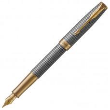 Перьевая ручка Parker (Паркер) Sonnet Luxury Cisele Silver GT F
