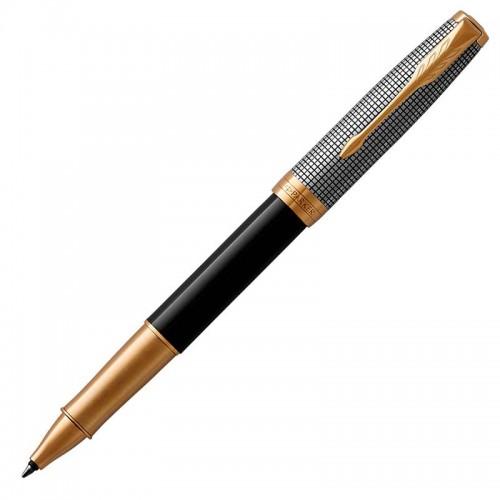Ручка-роллер Parker (Паркер) Sonnet Premium Black Silver GT в Ростове-на-Дону