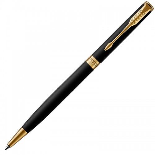 Шариковая ручка Parker (Паркер) Sonnet Core Slim Matte Black Lacquer GT в Ростове-на-Дону